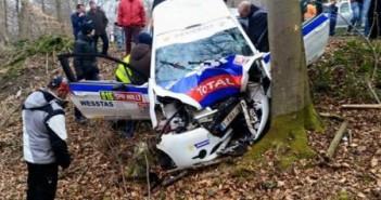 Spa Rally 2015 crash