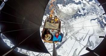 photo gopro montgolfiere alpes