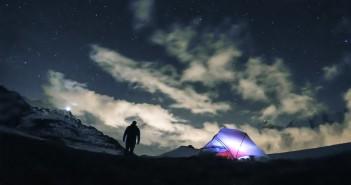 photo Mont Blanc nuit