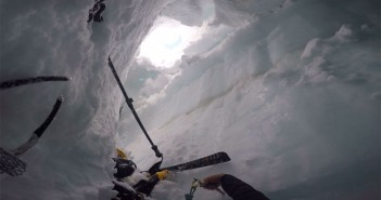 ski crevasse