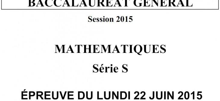 bac 2015 maths