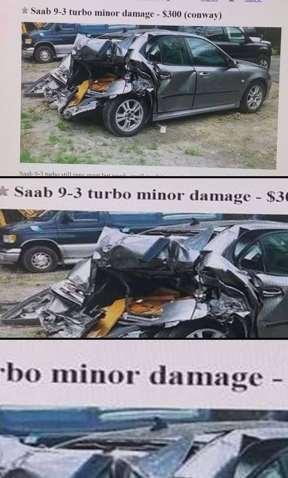 annonce voiture degat mineur