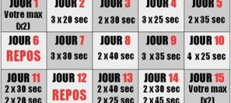 programme gainage 30 jours