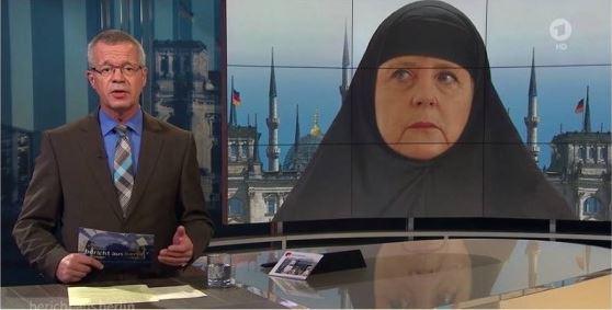 Angela Merkel voilee