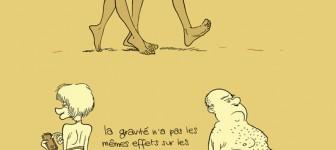 Déplacement des matières grasses chez l'homme et la femme
