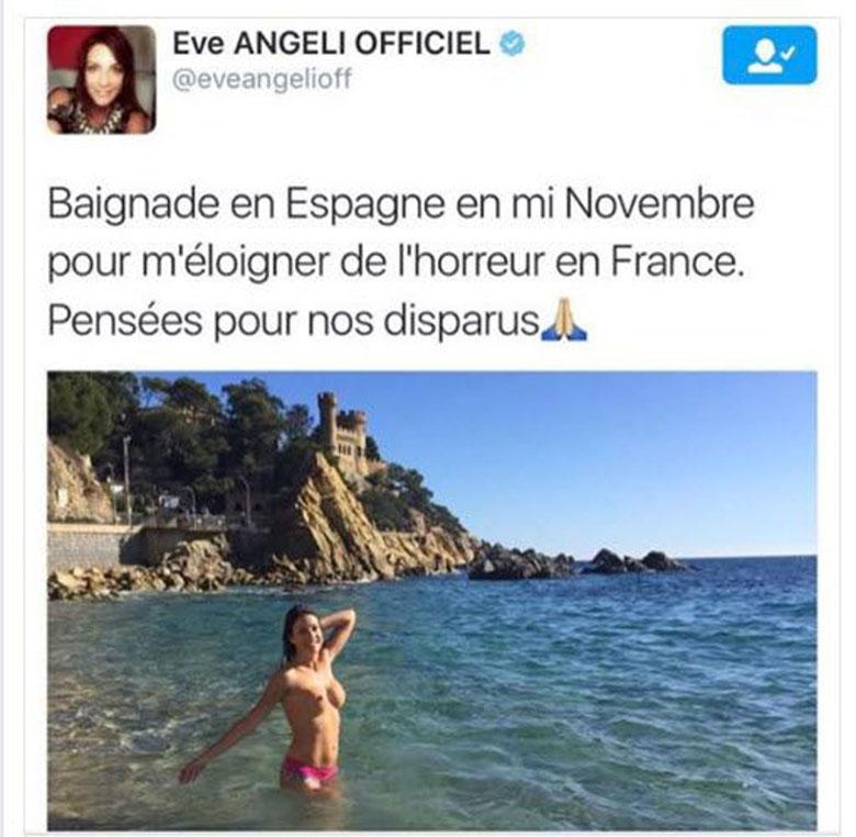 Eve Angeli twitter seins nus