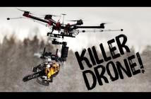 Massacre à la tronçonneuse avec un drone !